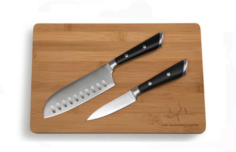 Mannerströms knivset med två knivar & bräda